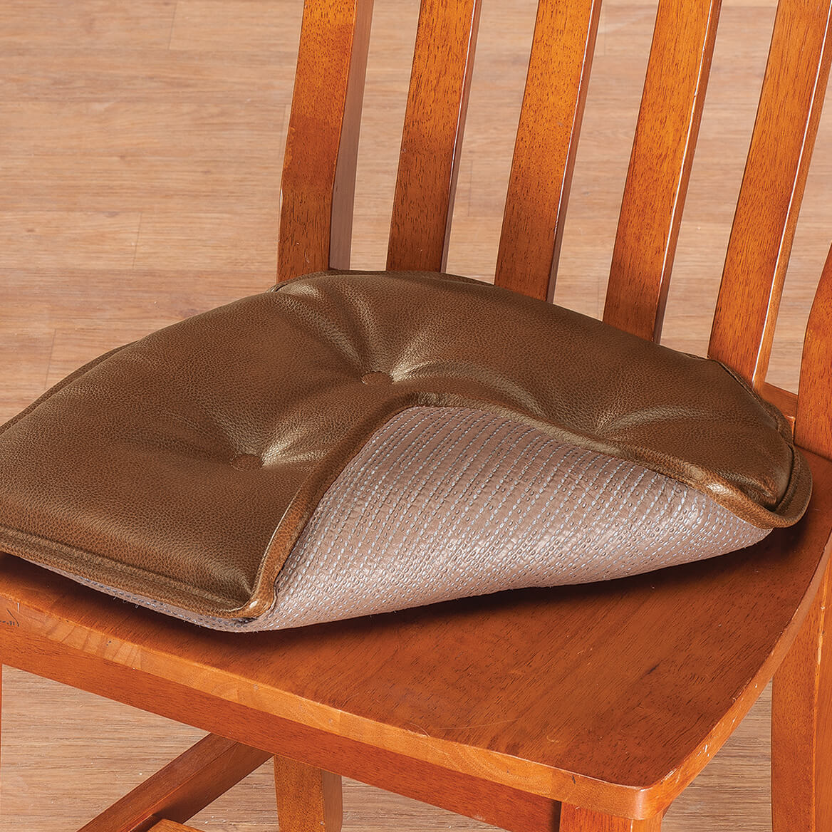 St Germaine Faux Leather Chair Pad with Gripper