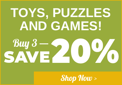 Toys, Puzzles & Games Buy 3 Save 20%