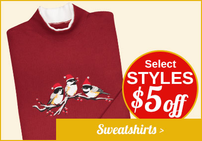 $5 off Sweatshirts