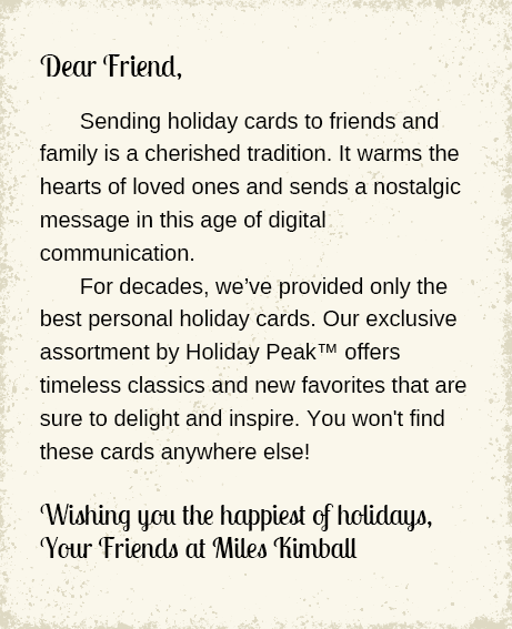 Christmas Card Letter