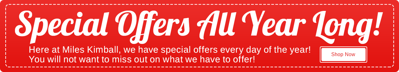 Our Special Offers All Year Long