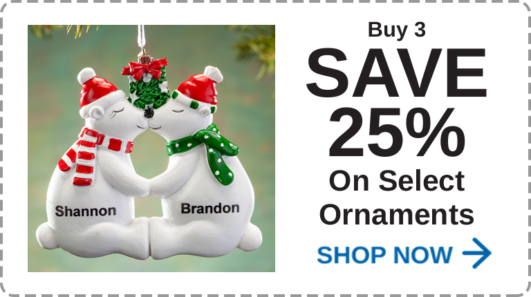 Ornaments Buy 3 Save 25%