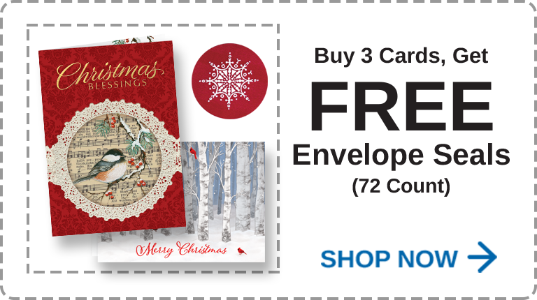 Christmas Cards Buy 2 Get Free Seals