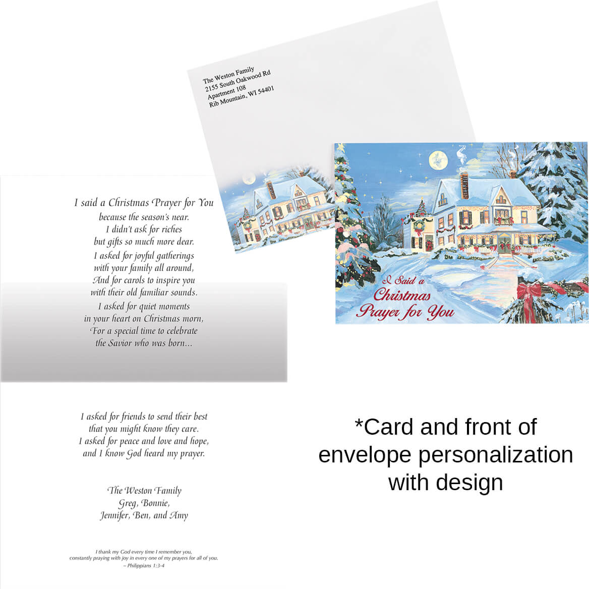 Personalized I Said A Christmas Prayer Card Set of 20 - Miles Kimball