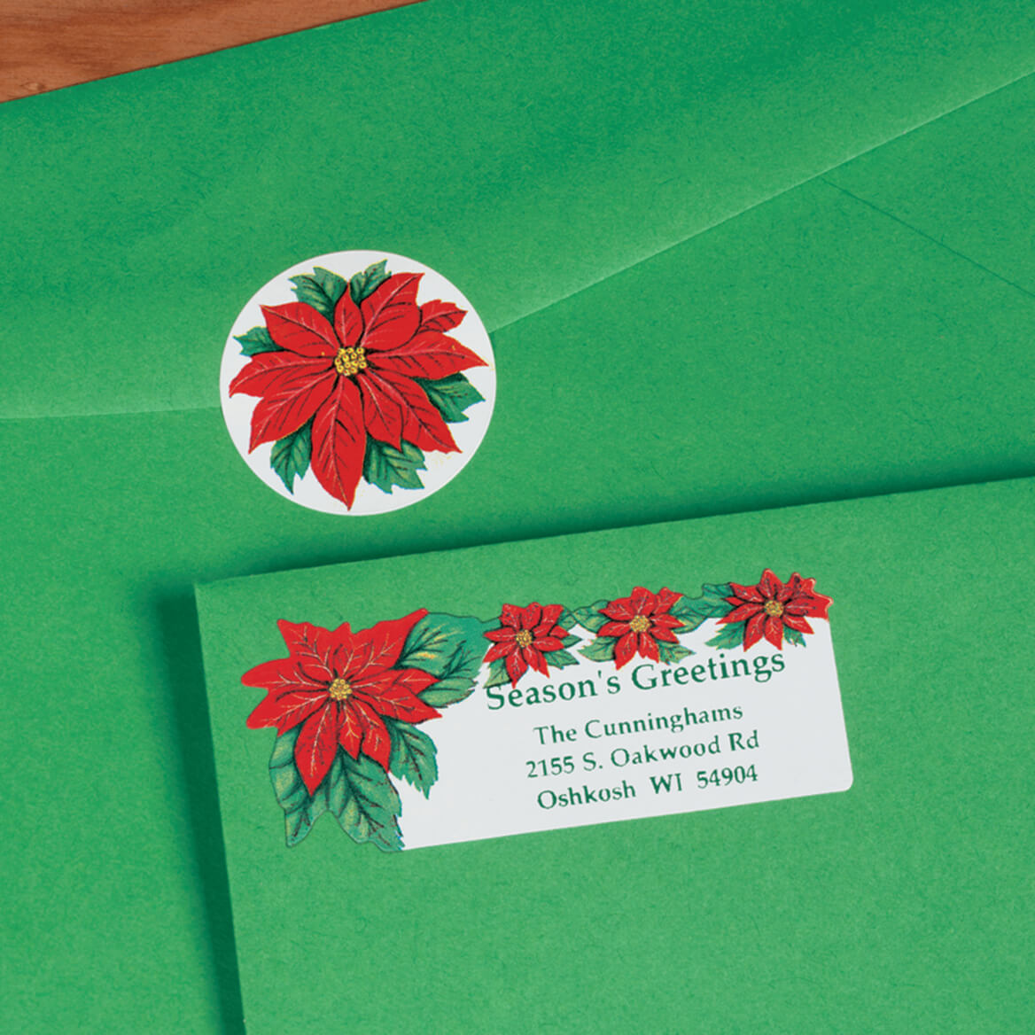 Poinsettia Labels and Seals Set/Both-310884
