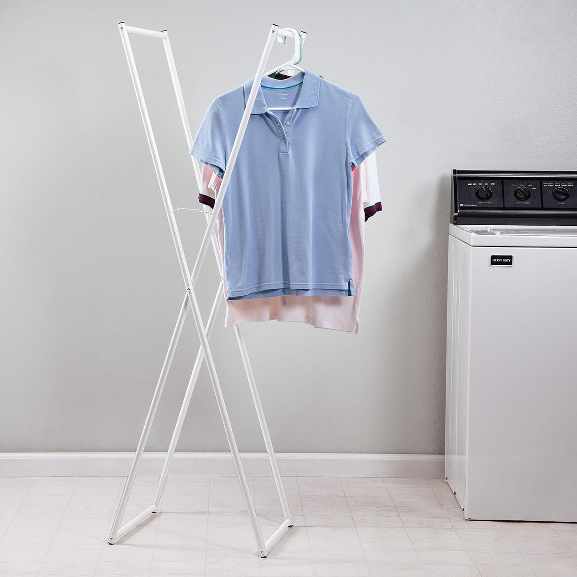 Folding Clothes Rack Clothing Hanging Racks Miles Kimball