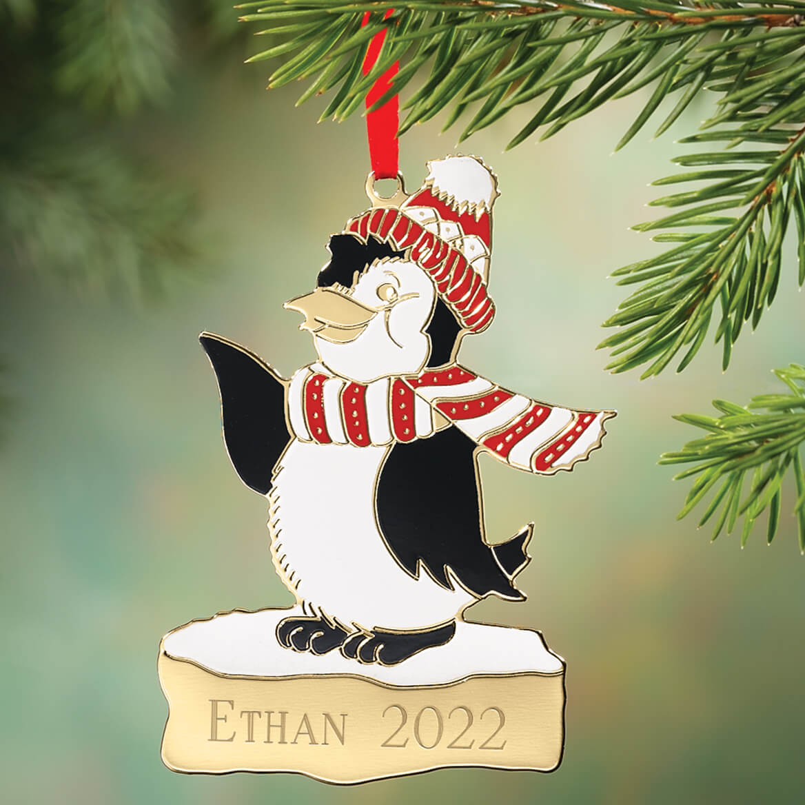 Personalized Penguin Christmas Ornament-310962