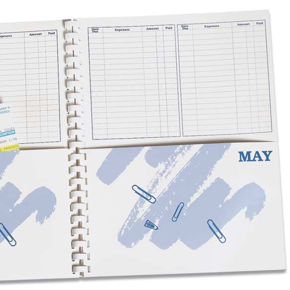 what s due bill organizer book bill paying organizer miles kimball