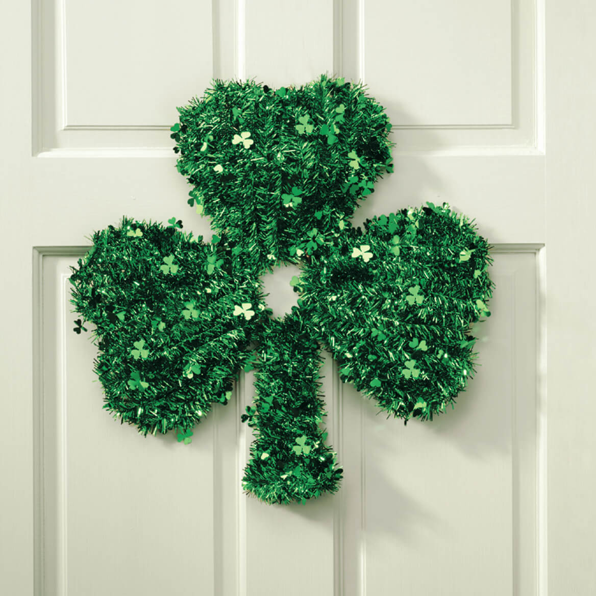 Shamrock Glitter Wreath by Holiday Peak™-312277