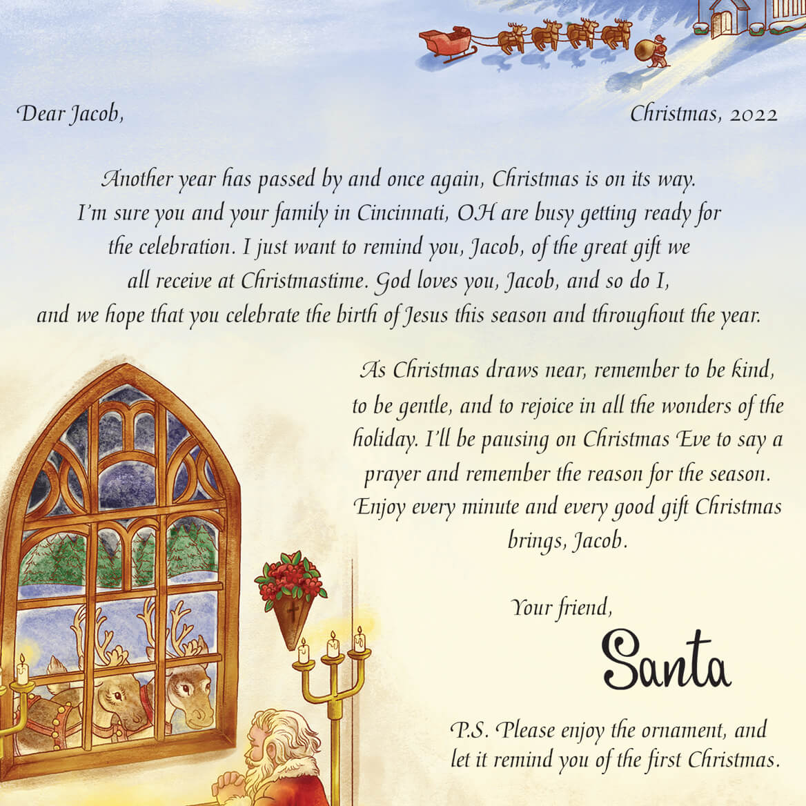 inspirational personalized letter from santa miles kimball