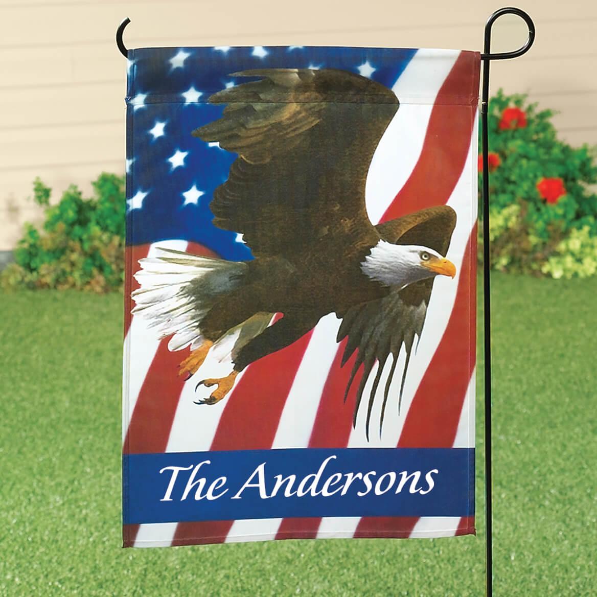 Personalized Patriotic Eagle Garden Flag-313584