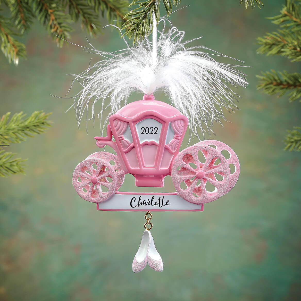 Personalized Princess Carriage Ornament-314176
