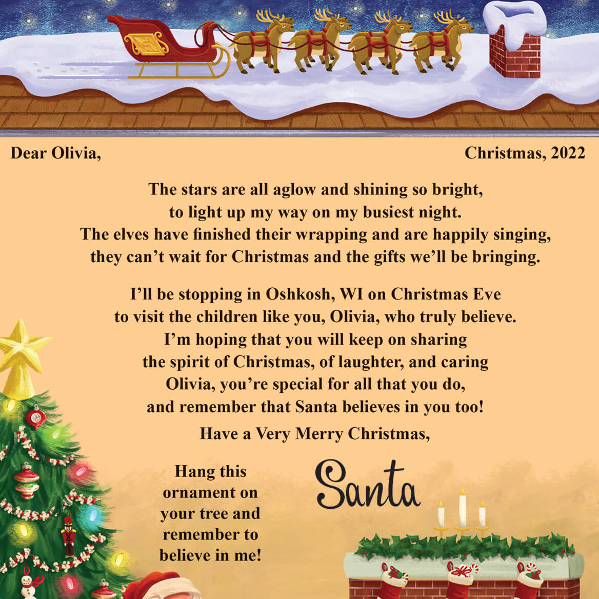 Letter From Santa To Child Santa Letters To Children Miles Kimball