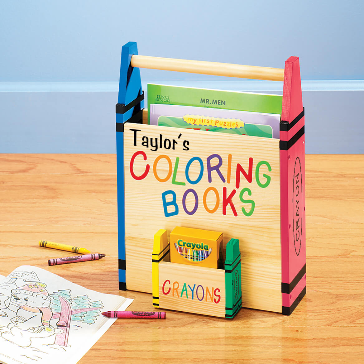 Personalized Coloring Book Holder - Children\'s - Miles Kimball