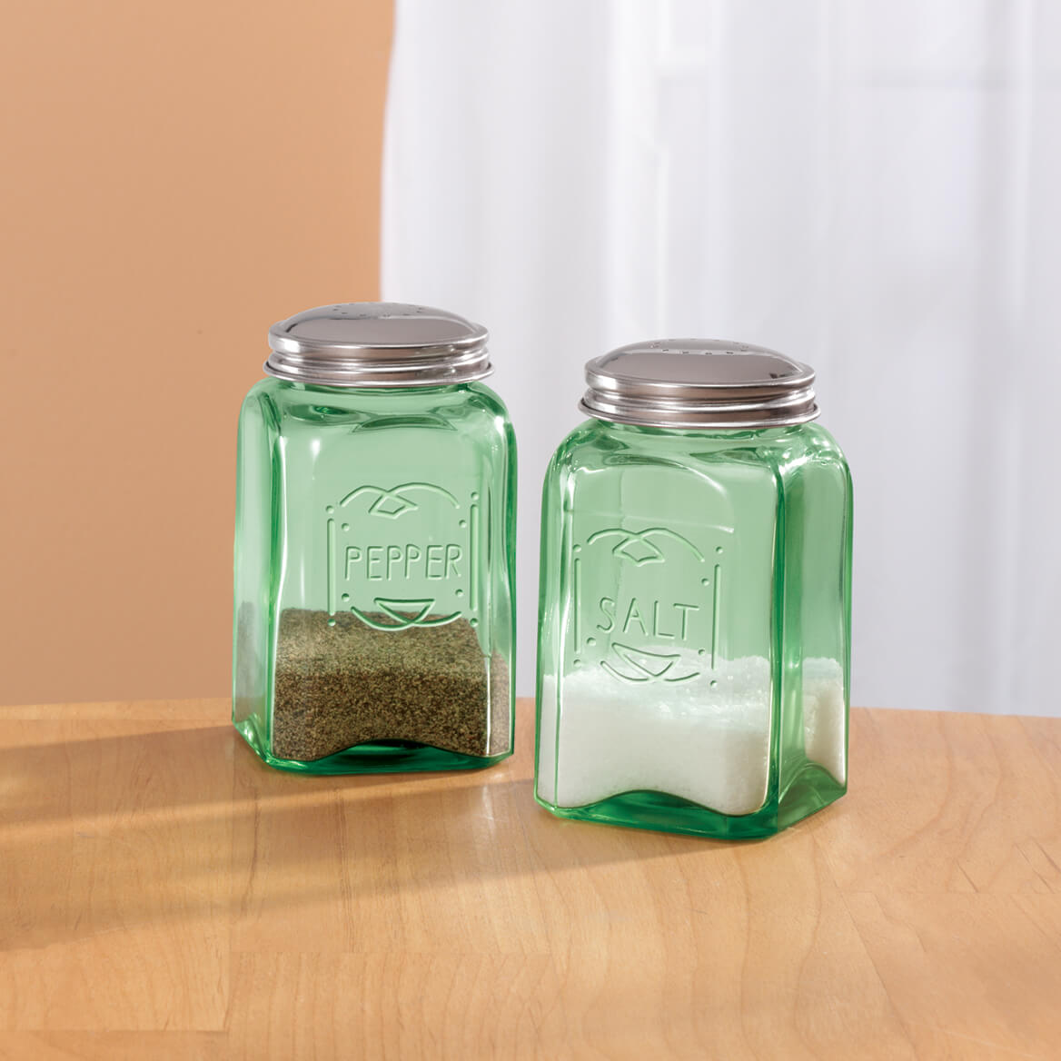 Classic Green Salt and Pepper Shakers-315706