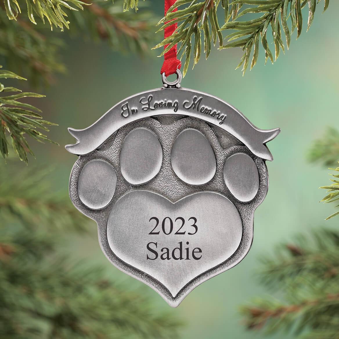 Memorial Christmas Ornaments.Personalized Pet Memorial Ornament