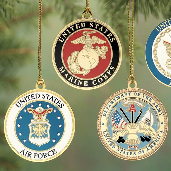 Gold Plated Military Ornament-316775 Gold Plated Military Ornament-316775 - Christmas Ornaments - Miles Kimball