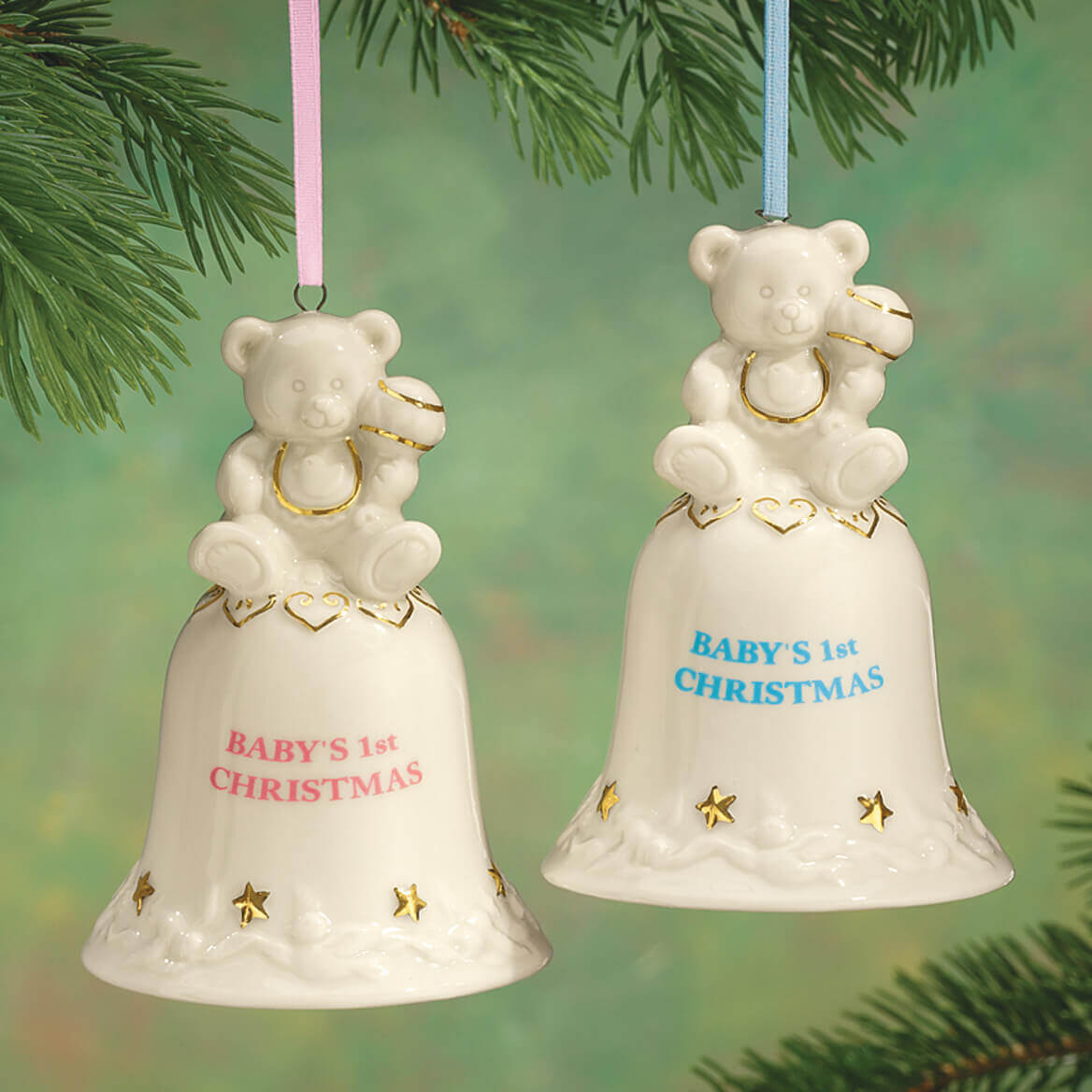 personalized baby s first christmas bell ornament miles kimball