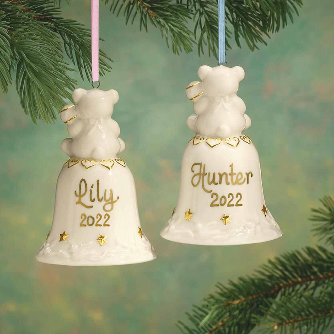 Personalized Babys First Christmas Bell Ornament Miles Kimball