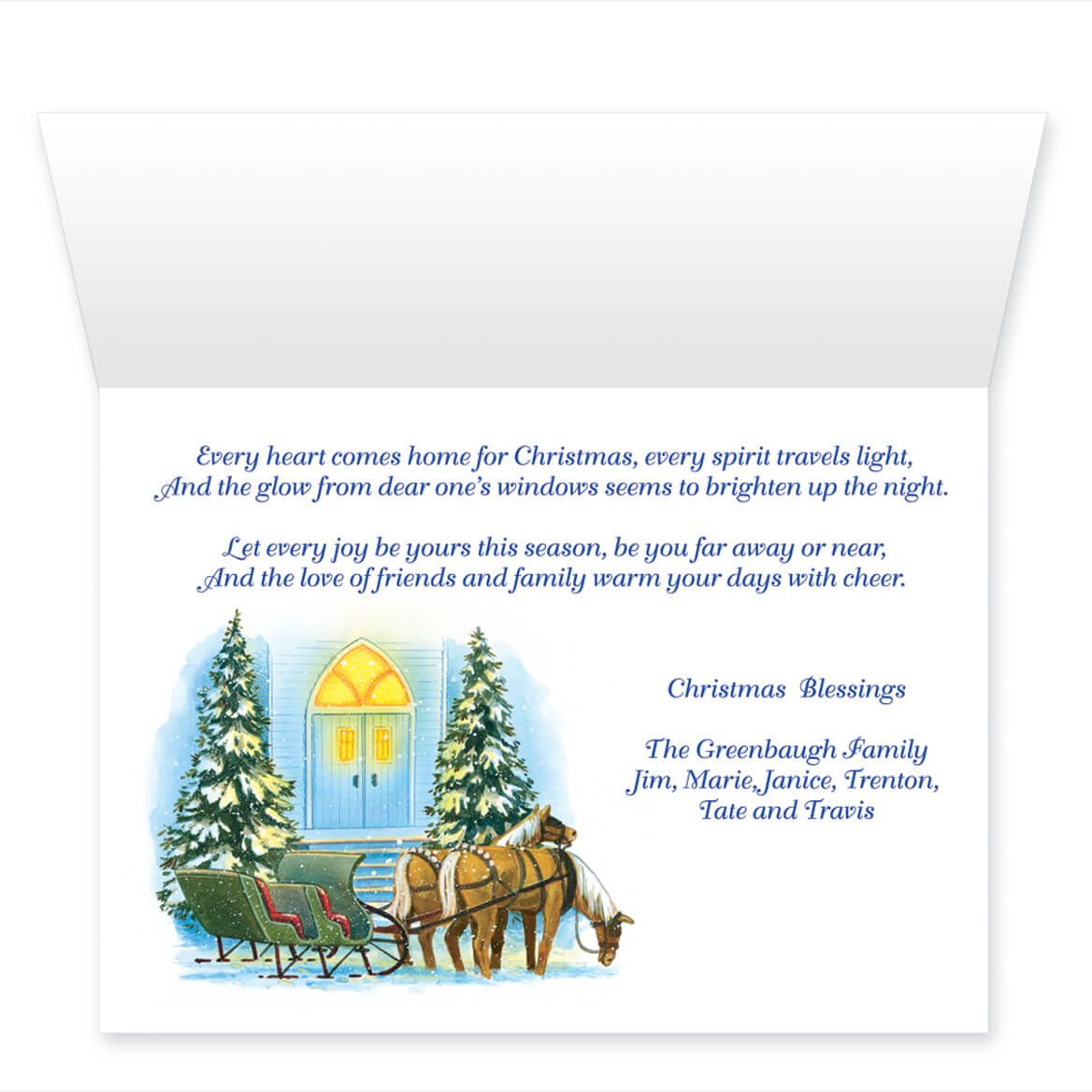 Personalized Home For Christmas Card Set Of 20 Miles Kimball