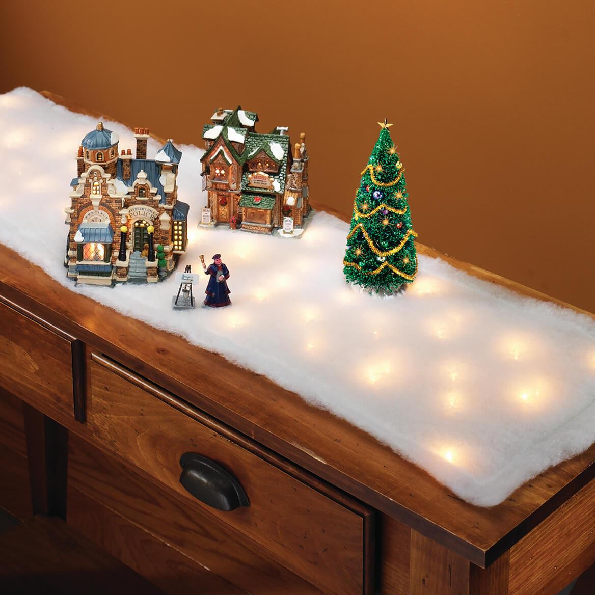 Lighted Snow Table Runner-320693