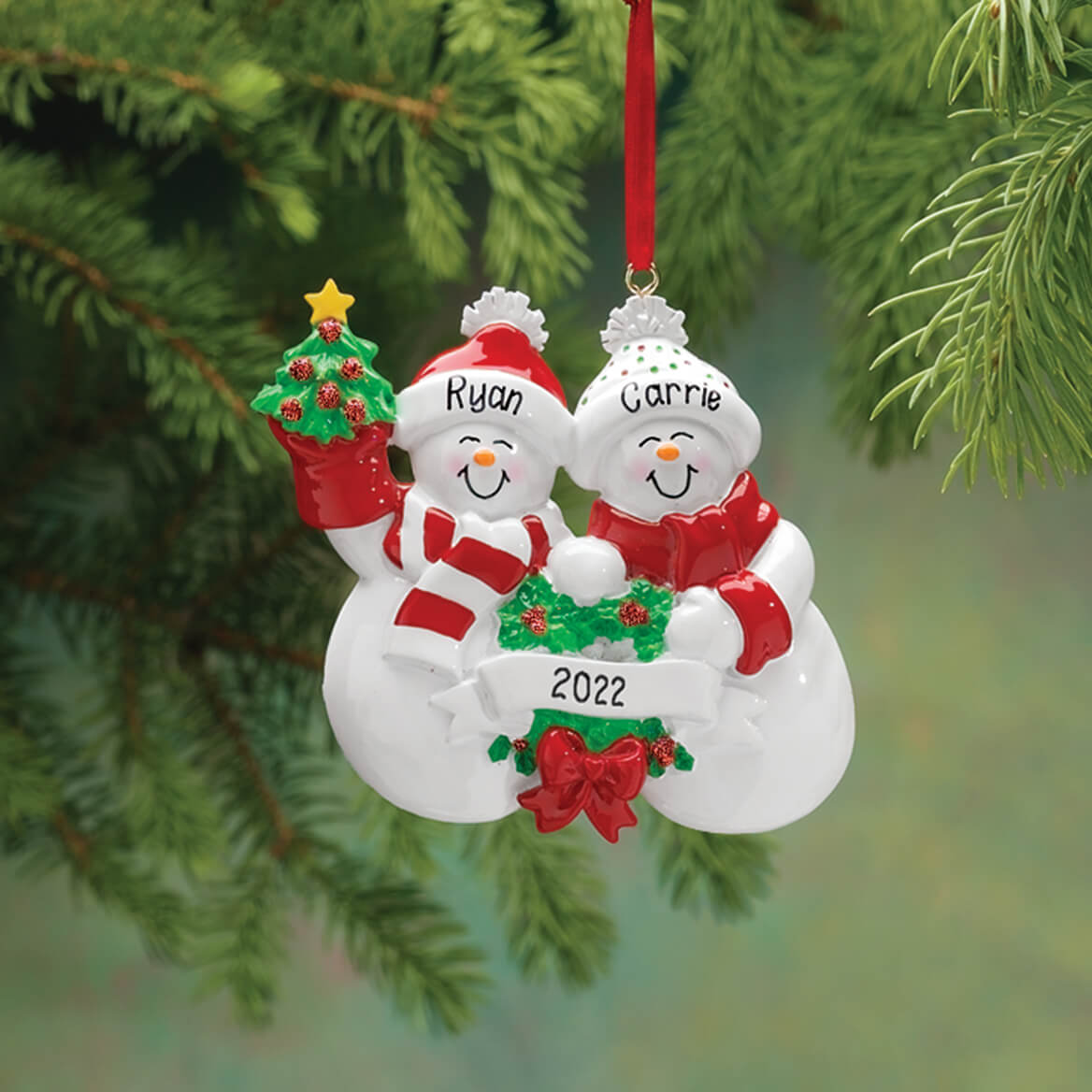 family christmas ornaments personalized snow family ornament ornaments kimball 12173