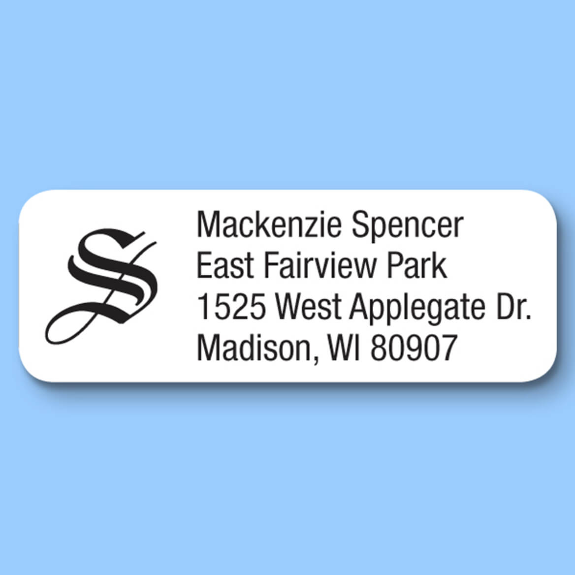 Old English Initial Personalized Roll Address Labels, Set of 200-328951