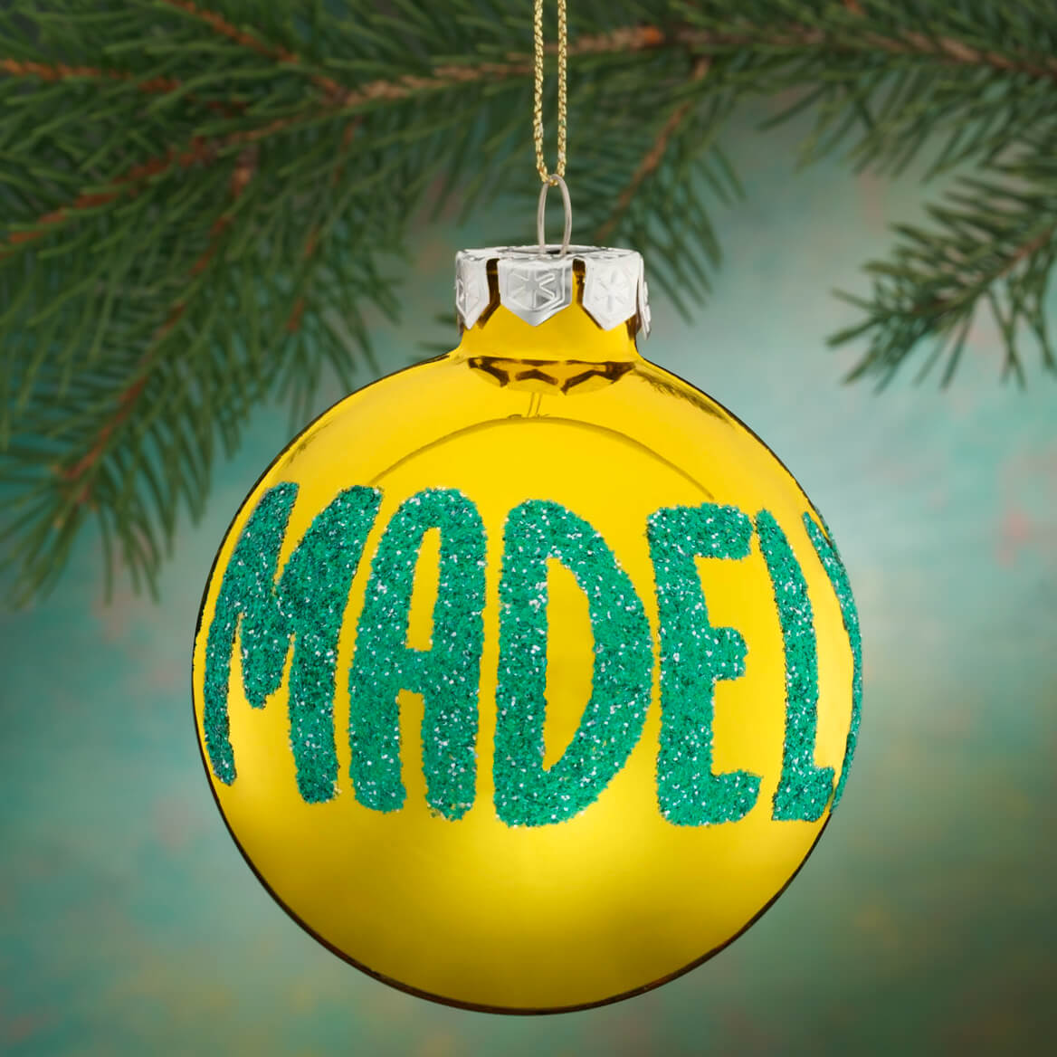 Personalized Name OR Date Glitter Ornament-330367