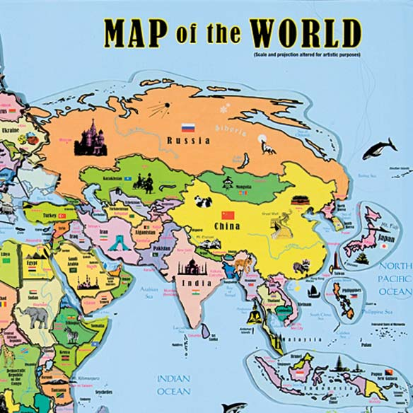 Magnetic Map Puzzle - World Maps For Kids - Miles Kimball