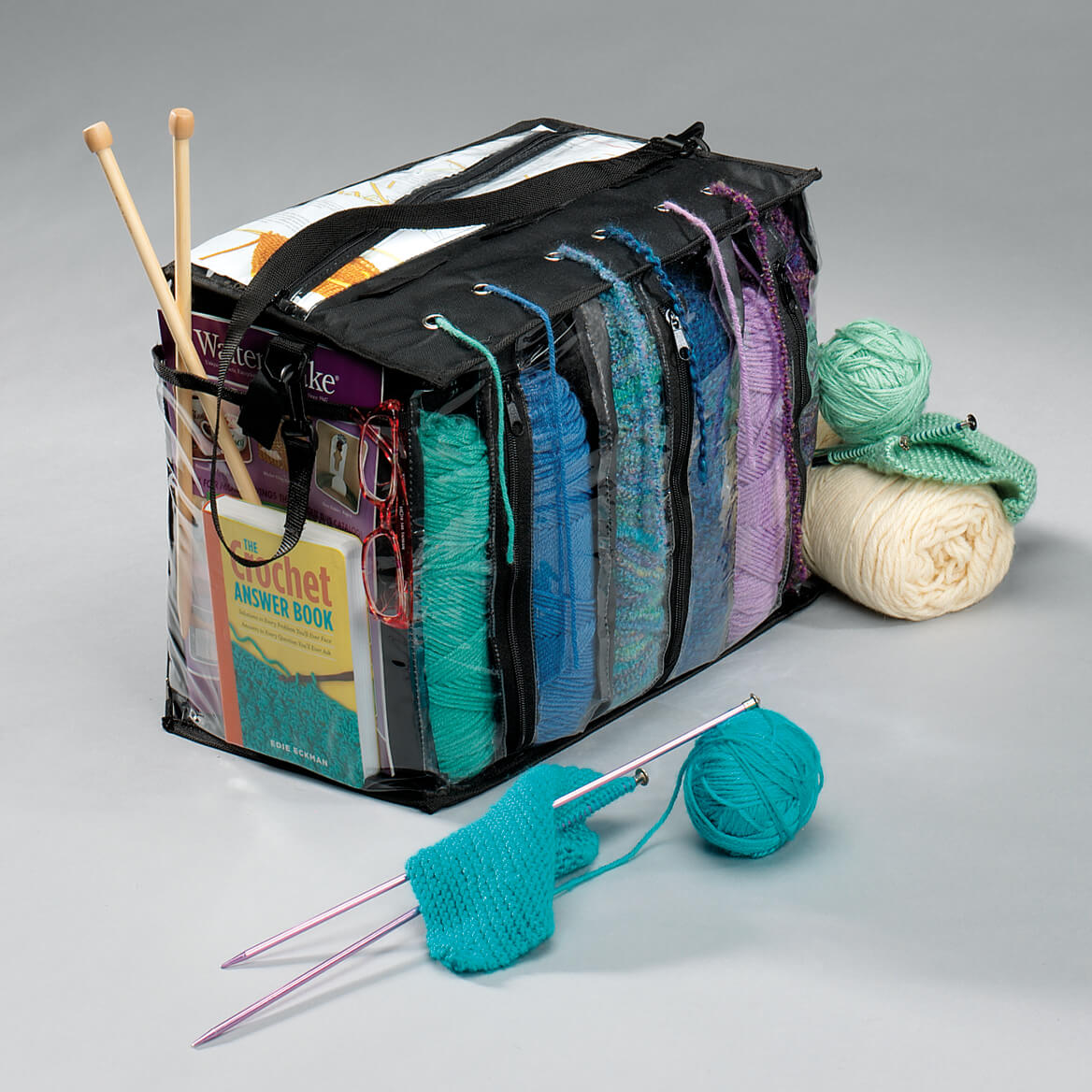 Select Quany Saved To Wishlist Save Add Cart Description Knitting Tote Bag