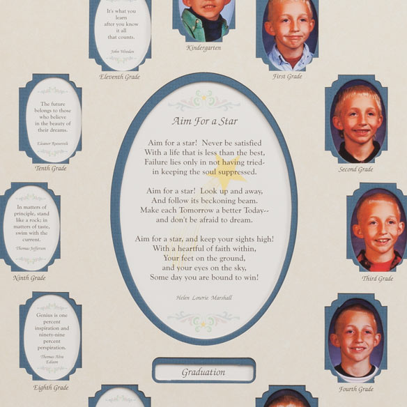 School Years Collage Frame - School Years Picture Frame -Miles Kimball