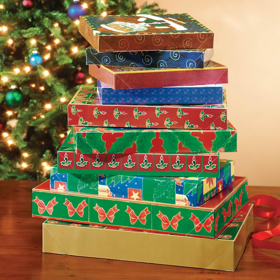 Christmas Gift Boxes - Set of 10