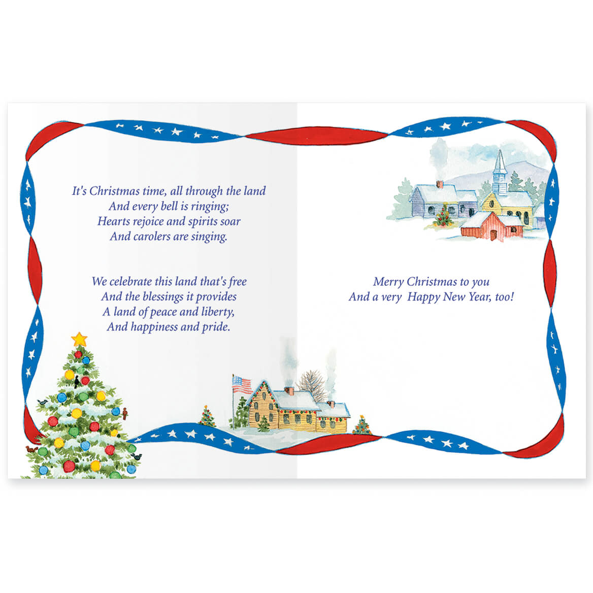 white and blue wishes card set 336957