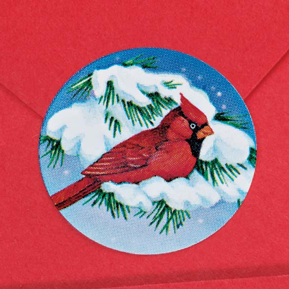 Snowy Cardinal Seal Set of 250-338749