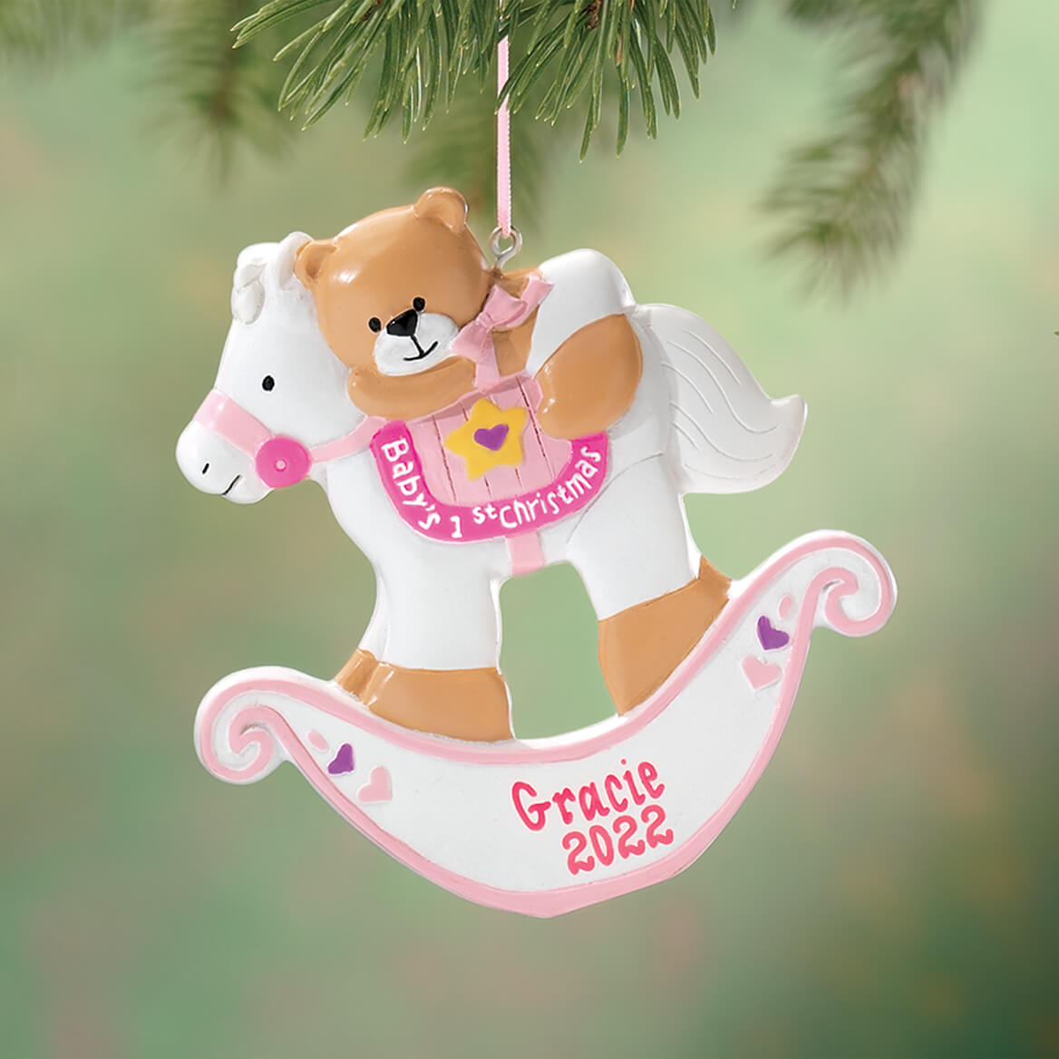 Personalized Baby's First Christmas Rocking Horse Ornament-339116