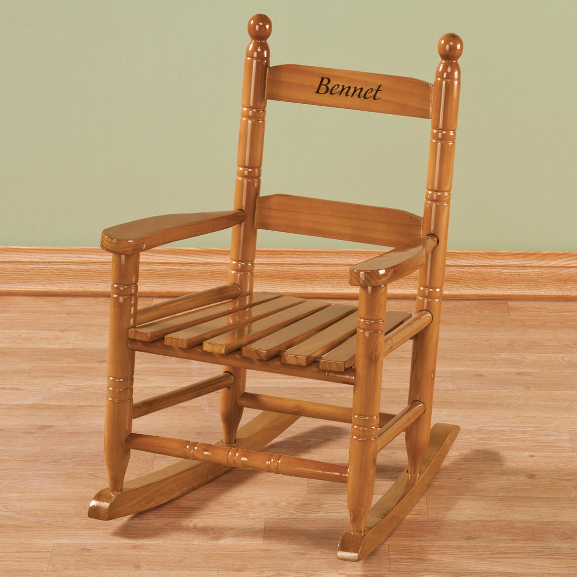 Personalized Childs Natural Rocker-339155