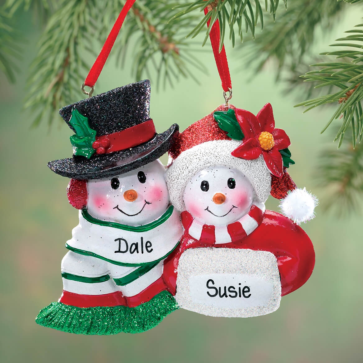 personalized snowmen couple christmas ornament 339195 personalized snowmen couple christmas ornament 339195