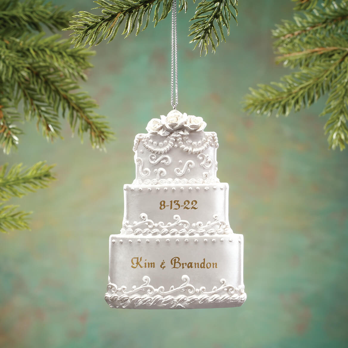 wedding cake christmas ornament personalized wedding cake ornament kimball 8593
