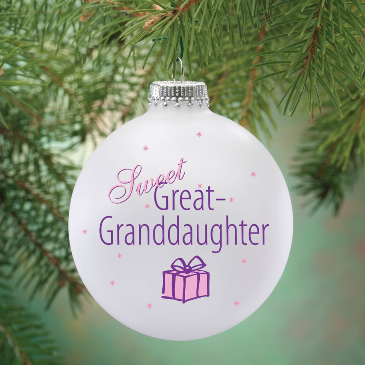 Personalized Sweet Great Granddaughter Ball Ornament - Miles Kimball