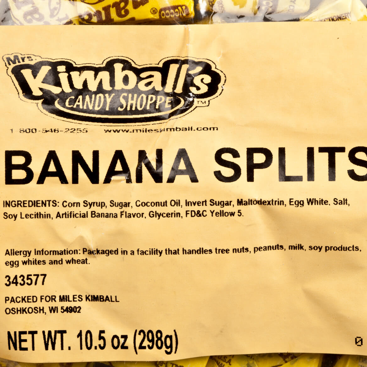 Necco® Banana Split Chews, 10.5 oz.-343577