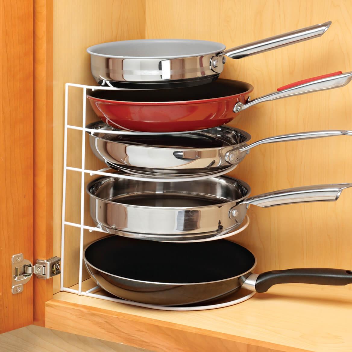 Frying Pan Organizer - Cabinet Pan Organizer - Miles Kimball