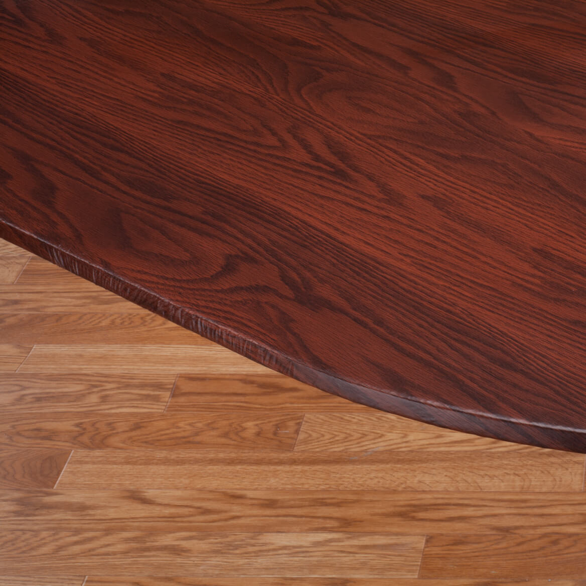 Wood Grain Vinyl Elasticized Table Cover-344622
