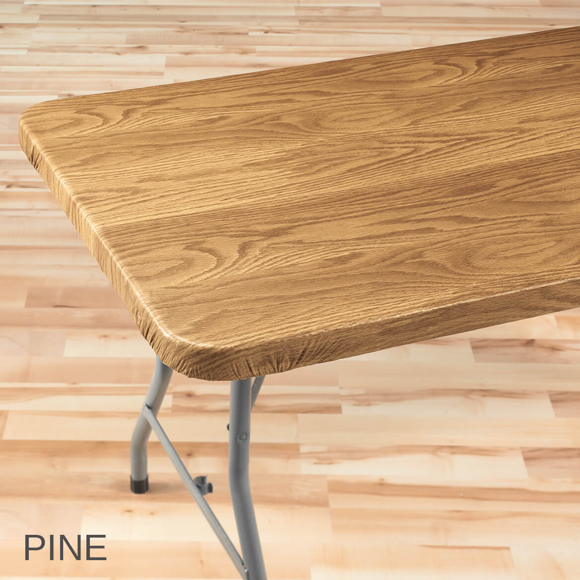 wood grain elasticized table cover wood table cover miles kimball