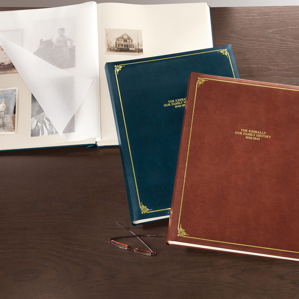 Personalized Leather Oversized Scrapbook-344894