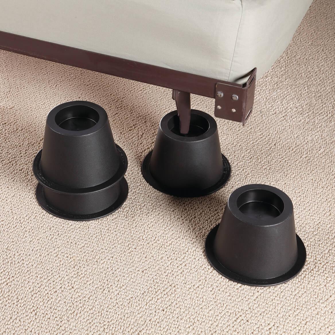 Terrific Black Bed Risers Set Of 4 Machost Co Dining Chair Design Ideas Machostcouk