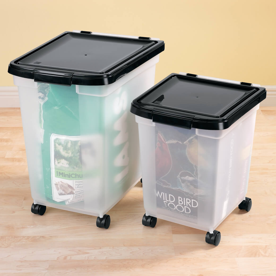 Rolling Storage Bins Storage Bins With Wheels Miles Kimball