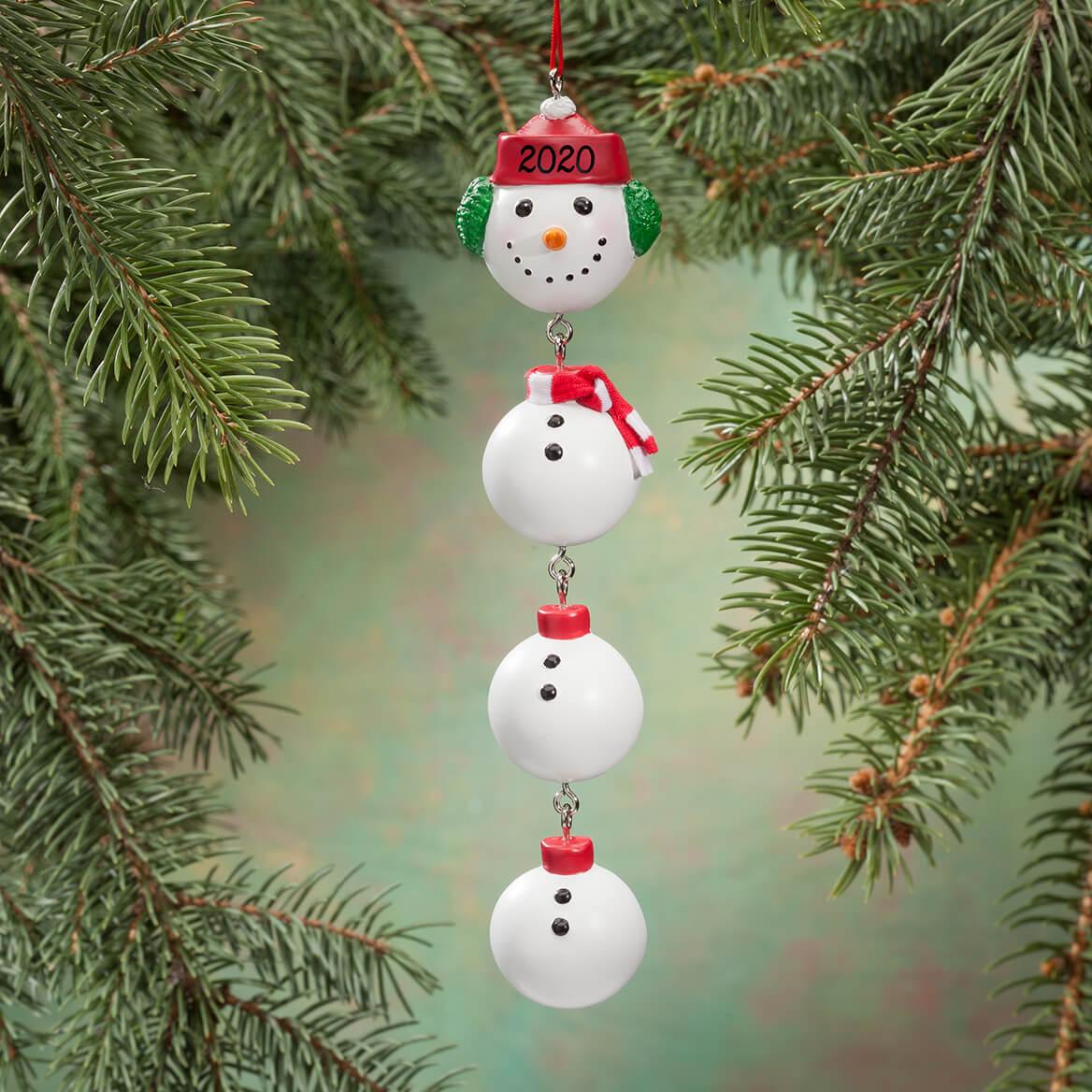 Personalized Snowman Dangle Ornament-346208