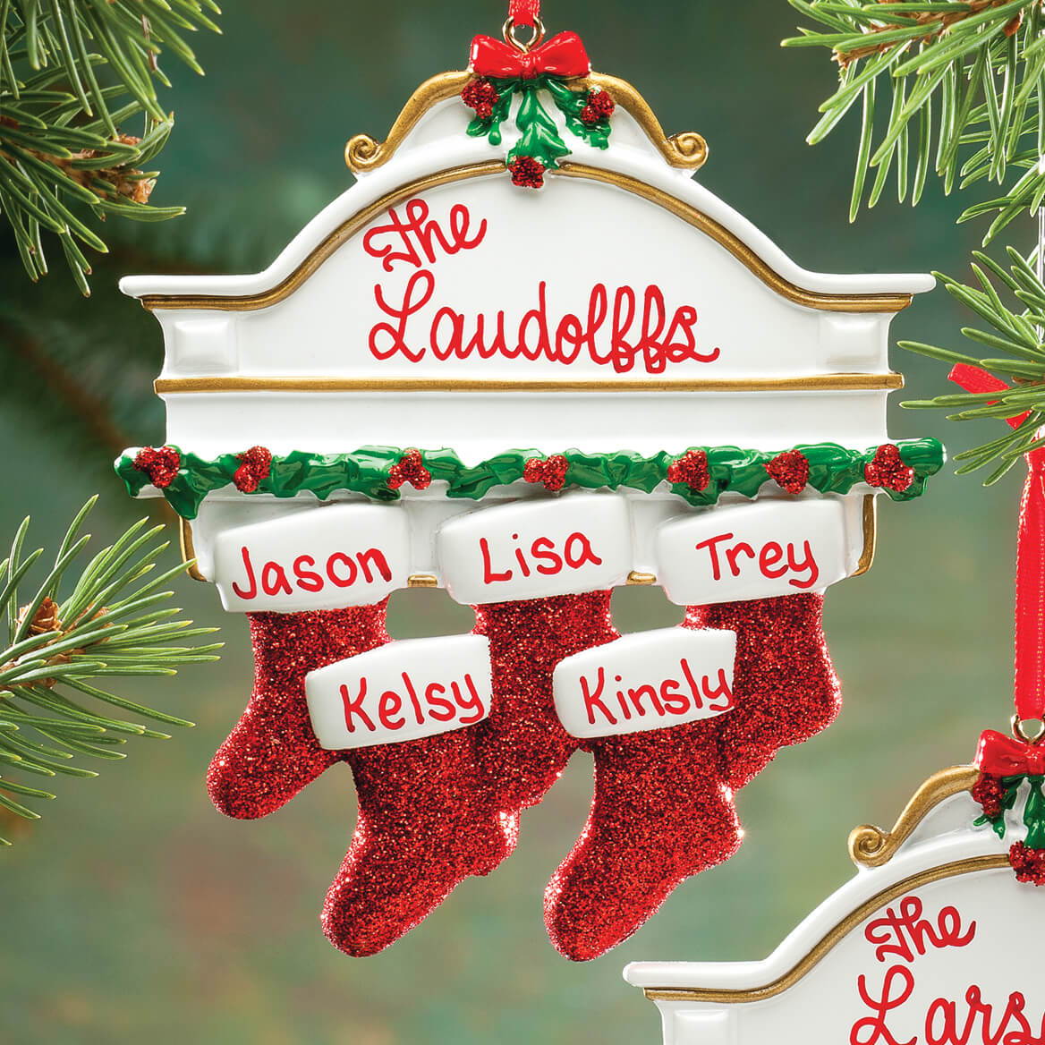 Personalized Christmas Mantel Stocking Ornaments-346431