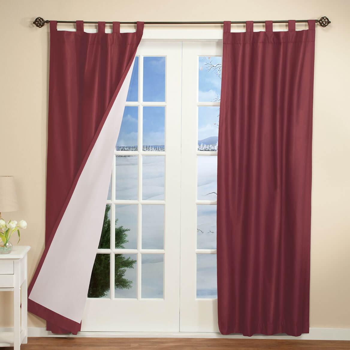 Energy Saving Tab Top Curtains Set Of 2-347012