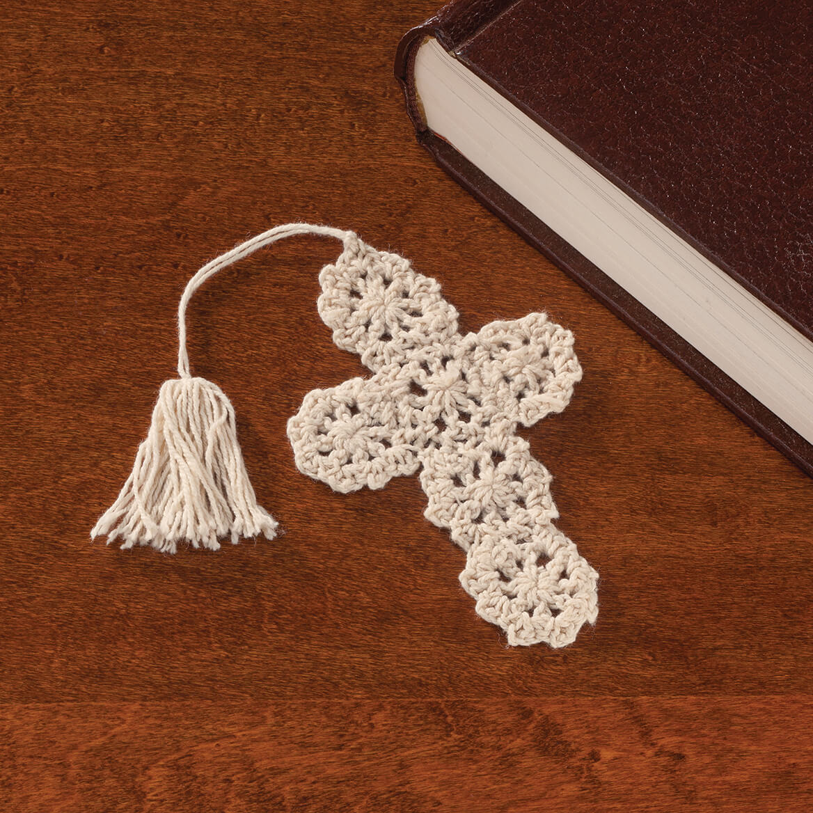 Crocheted Cross Bookmarks Set of 10-347380